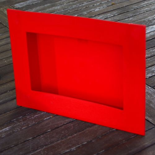 Cadre rectangle rouge